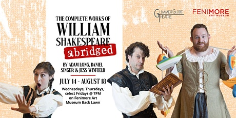 The Complete Works of William Shakespeare (abridged) — LIVE in Cooperstown! tickets
