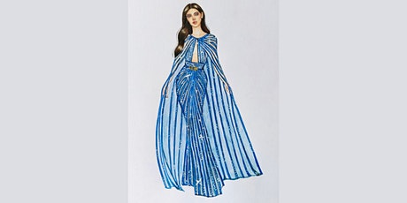 60min Fashion Sketching  Lesson -  Long Blue Gown @3PM (Ages 7+) tickets