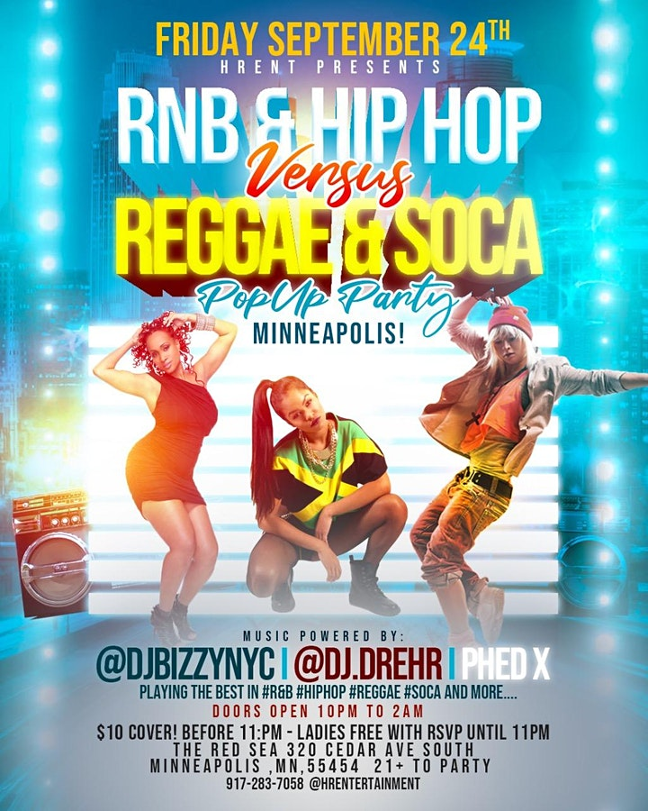 RNB&HIPHOP VS REGGAE&SOCA POP UP PARTY  Minneapolis image