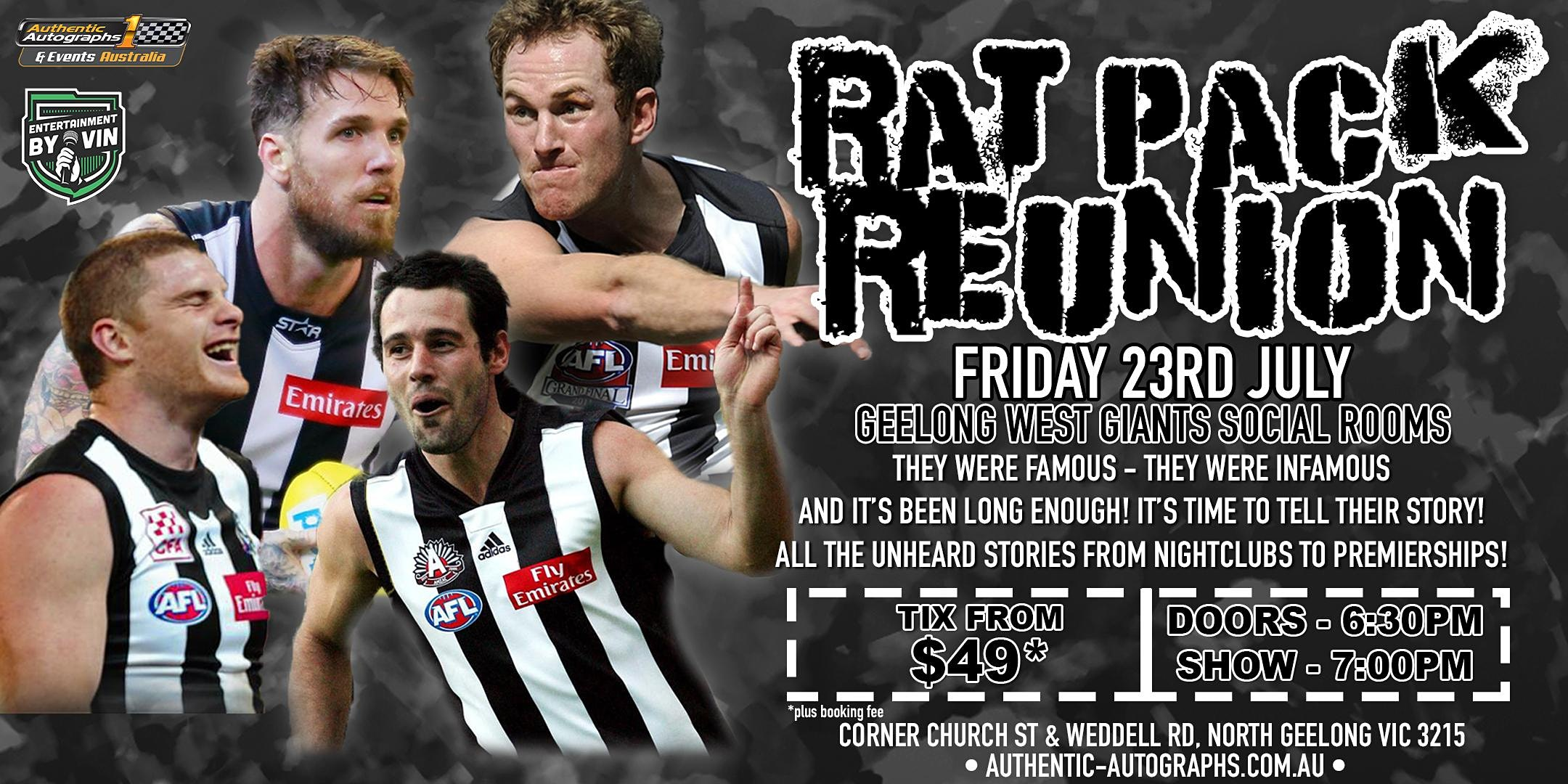 'The Rat Pack' @ The Geelong West Giants Social Rooms!
