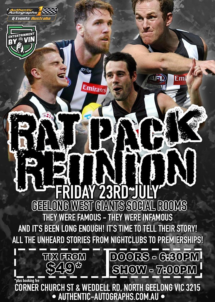 'The Rat Pack' @ The Geelong West Giants Social Rooms! image
