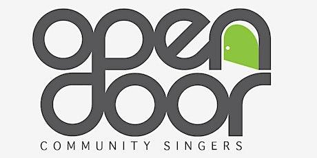 OPEN DOOR COMMUNITY SINGERS REHEARSALS - Mondays @ 7.30pm tickets