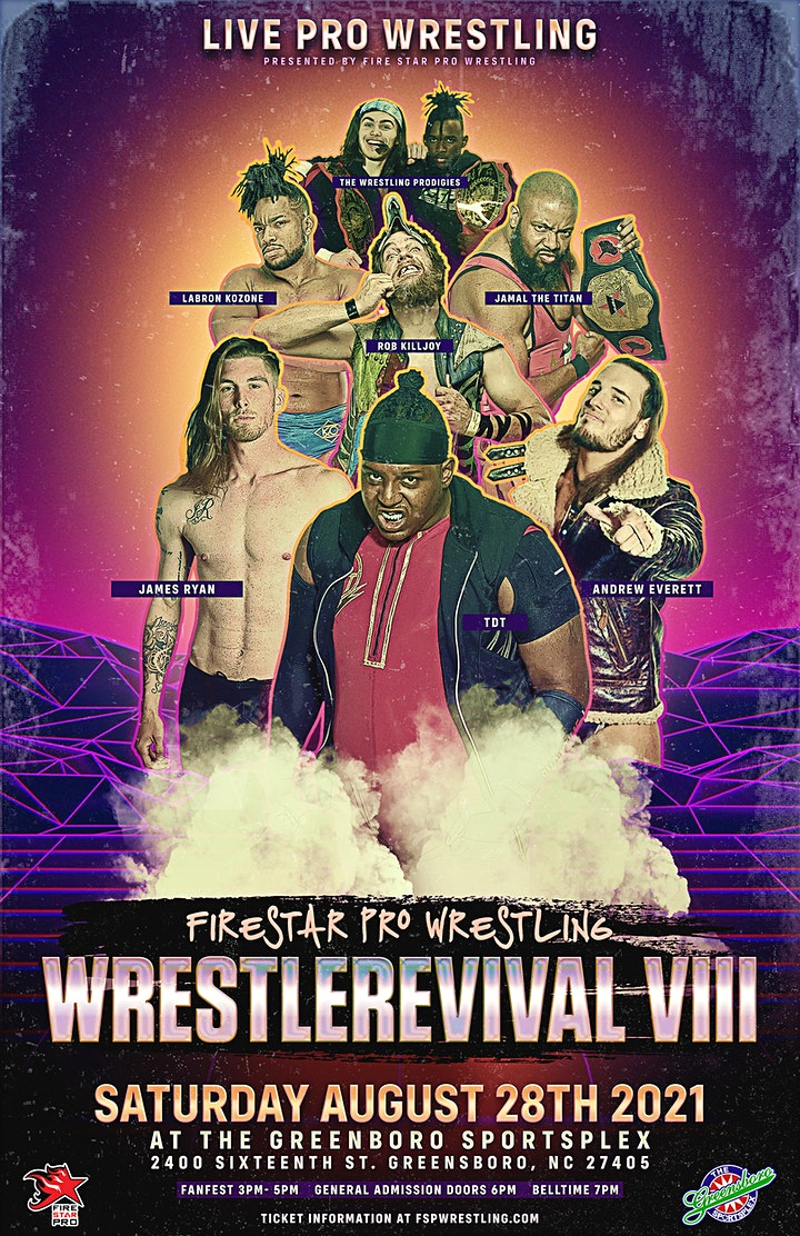 FSPW Presents: WrestleRevival VIII | Fanfest & Event - August 28th, 2021 image