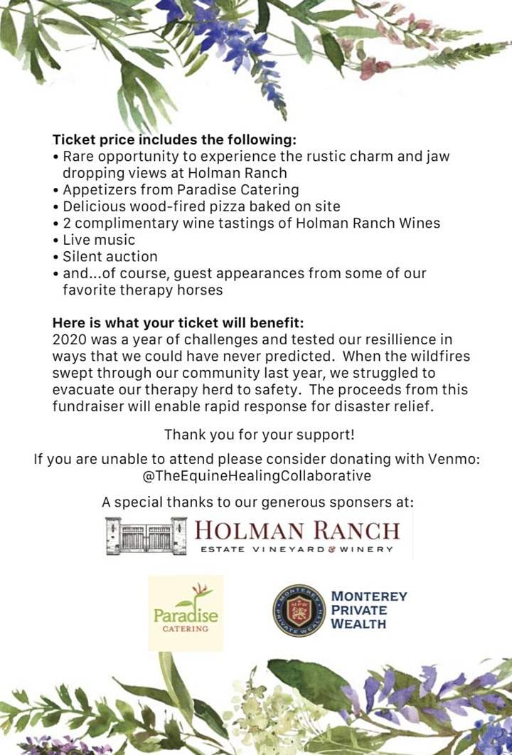 The EHC Benefit Fundraiser for Wildfire Relief image