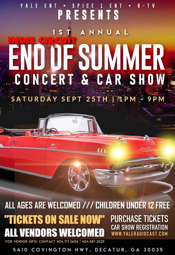 End Of Summer Indie Circuit Concert and Car Show image