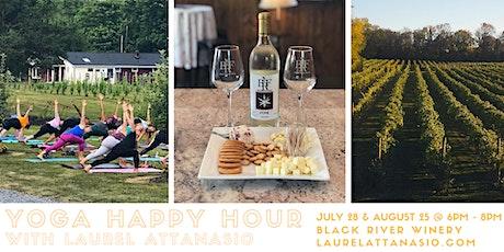 Chardonnay &  Namaste  ~  Yoga Happy Hour tickets