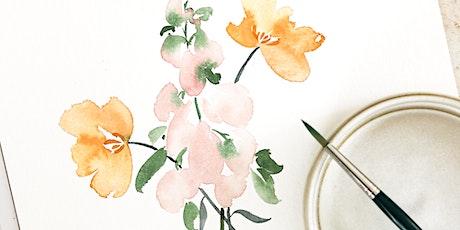 Floral Watercolor Workshop in Nittenau inkl. Starter-Set Tickets