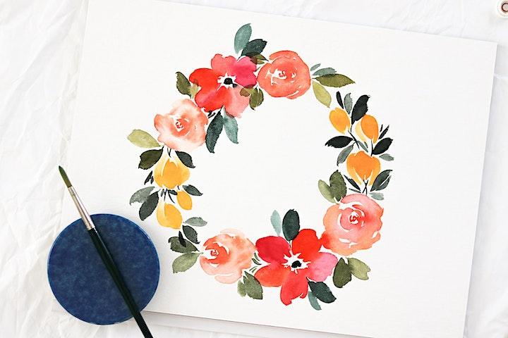 Floral Watercolor Workshop in Nittenau inkl. Starter-Set: Bild