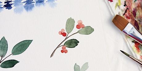 Christmas Watercolor Workshop in Nittenau inkl. Starter-Set Tickets