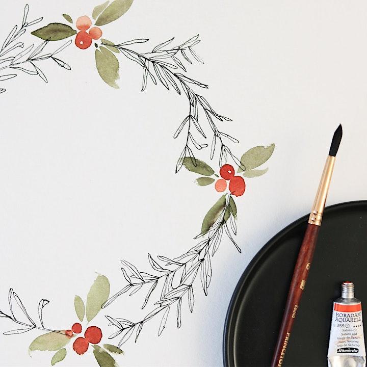 Christmas Watercolor & Ink Workshop in Nittenau inkl. Starter-Set: Bild