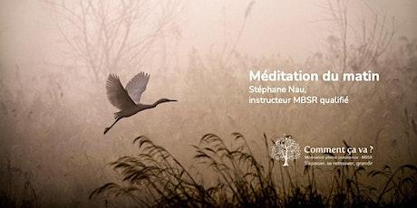 Méditation du matin tickets