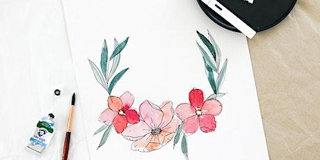Floral Watercolor & Ink Workshop in Nittenau inkl. Starter-Set Tickets