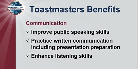 Overcome fear of public speaking -Toastmasters meeting tickets