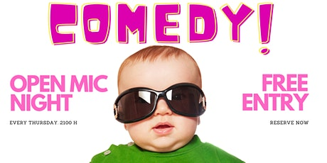 Open mic comedy at Updown Bar billets