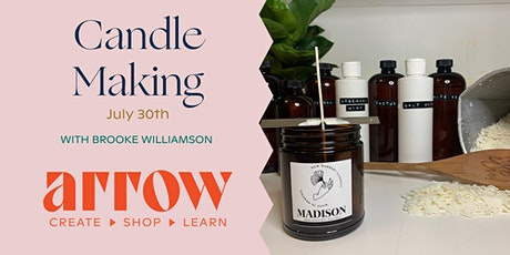 Candle Making with Brooke Williamson - Powered by Arrow tickets
