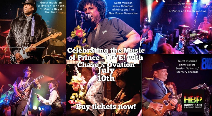 Celebrating the Music of Prince - OUTDOORS - LIVE! with Chase & Ovation image