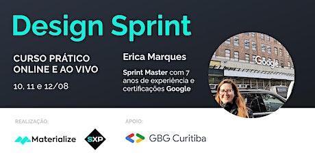 Curso Prático de  Design Sprint bilhetes