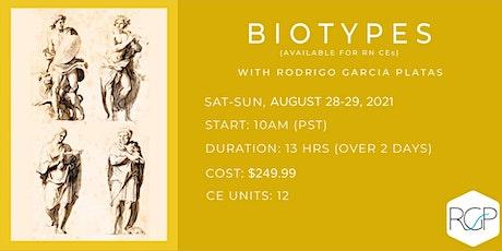 (August 2021) Introduction to BioTypes with Rodrigo Garcia Platas tickets