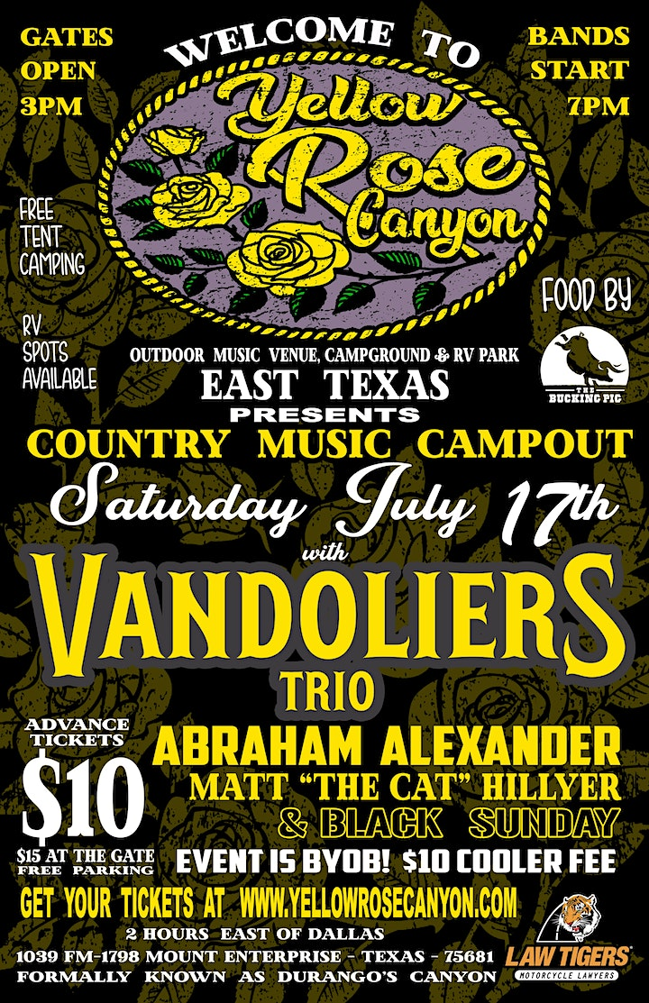 Yellow Rose Canyon presents the Country Music Campout image
