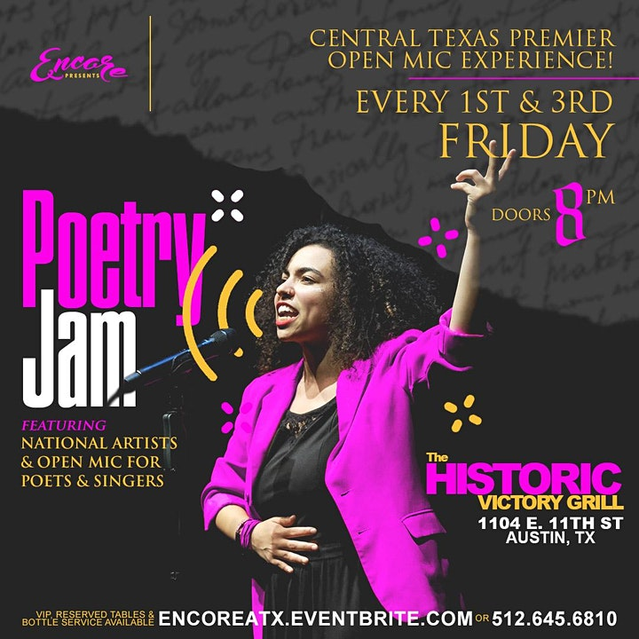 Poetry Jam | Open Mic and Showcase 8.6 image