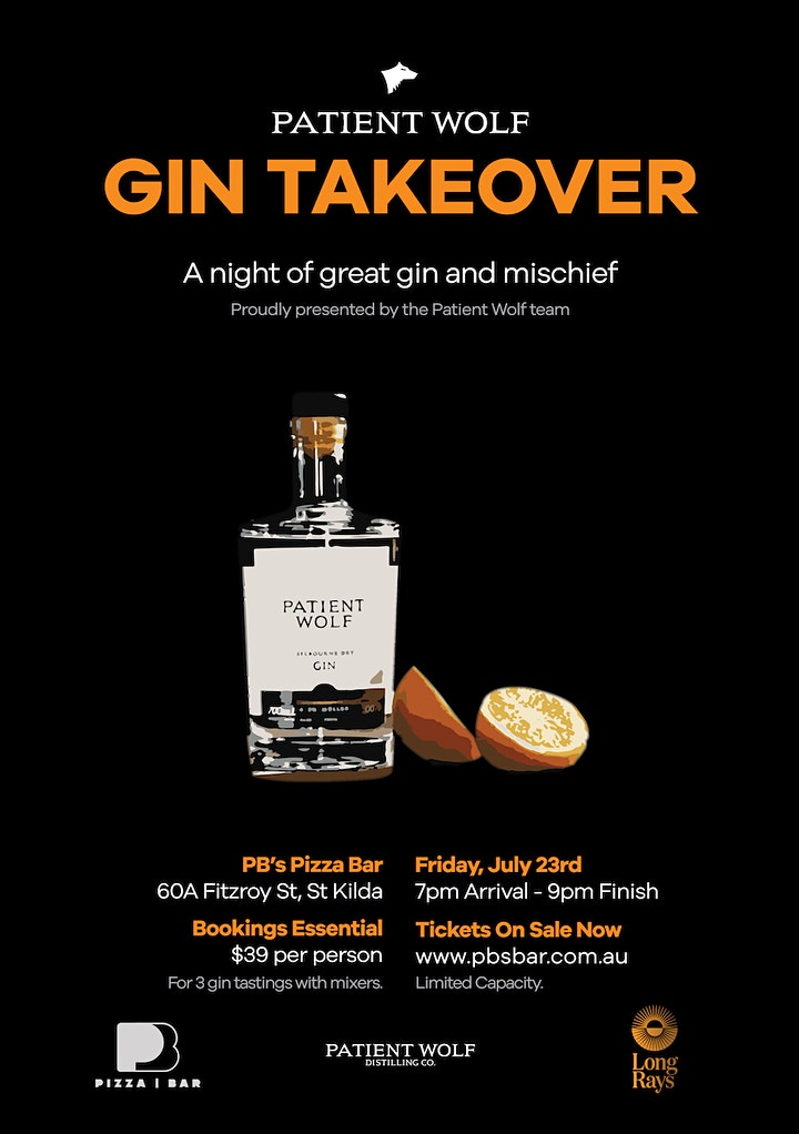 Patient Wolf Gin Takeover - Gin Tasting Night in St Kilda image