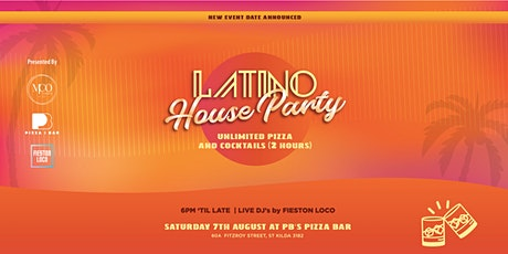 Latino House Party, Bottomless Pizza & Cocktails Pop-Up in St Kilda tickets