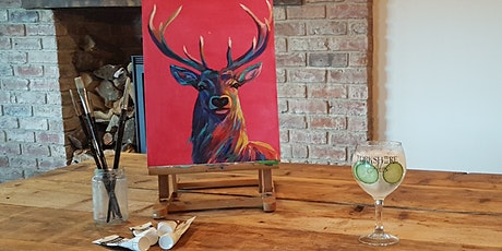 'Bright Stag'  Christmas painting workshop Yorkshire Ales, Snaith tickets