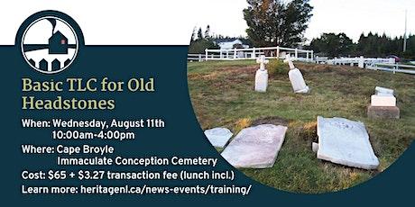 Basic TLC for Old Headstones Workshop tickets