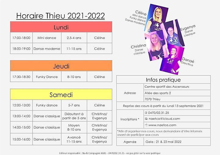 Image pour Inscriptions cours de danse Na&Compagnie - saison 2021-2022 Thieu