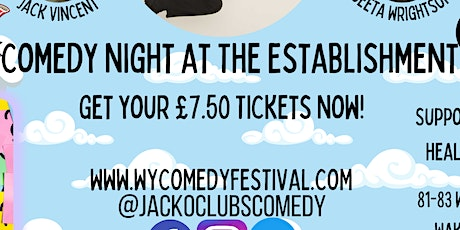 WYCF - Comedy Night at The Establishment with Jack Gleadow tickets