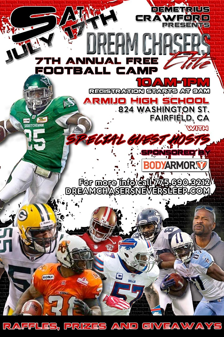 Dream Chasers Elite 7th Annual Football Camp image