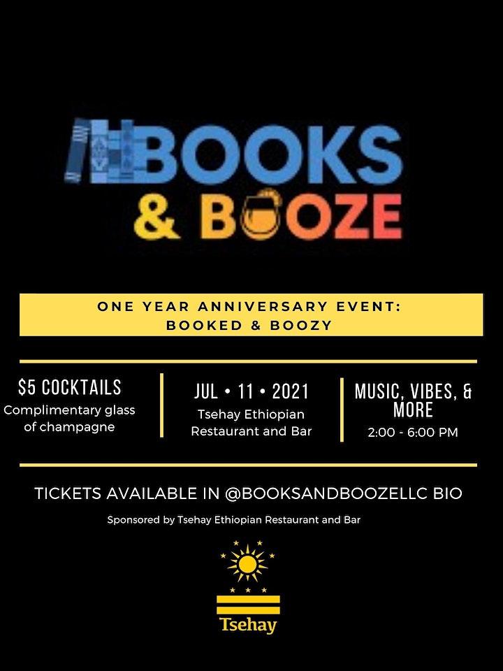 Books & Booze Anniversary Event: Booked & Boozy image