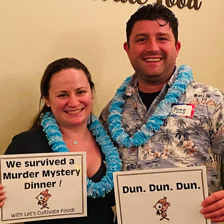 Murder Mystery Dinner   4-course Private Chef dinner w. Wine + Cocktail image