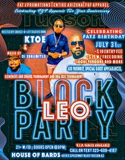 LEO BLOCK PARTY & FGF APPAREL 2 YEAR ANNIVERSARY tickets
