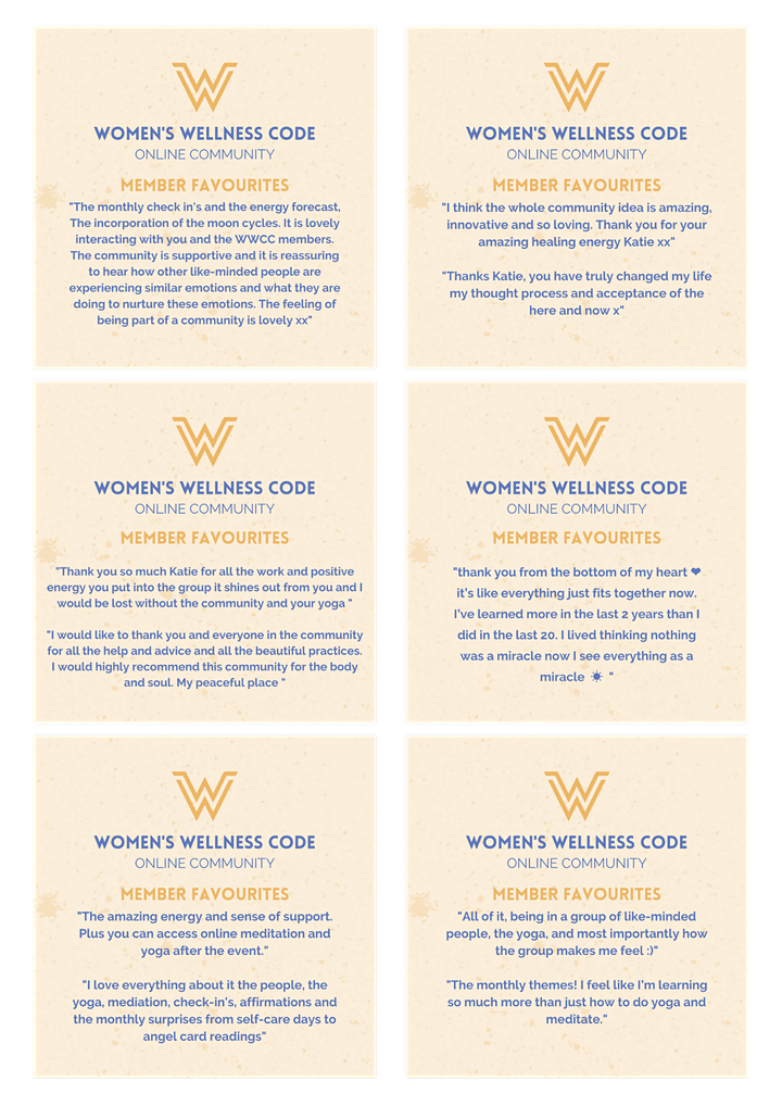 Women's Wellness Code Online Community Monthly Enrolment image