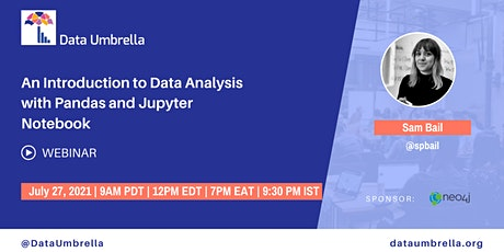 Intro to Data Analysis with Pandas and Jupyter Notebook tickets
