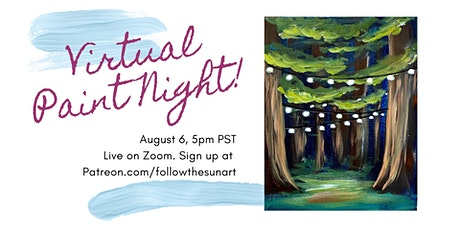 Virtual Paint Night: Follow the Twinkle Lights! tickets