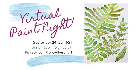 Virtual Paint Night: Watercolor Ferns! tickets