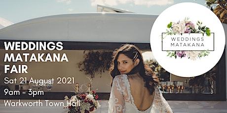 Weddings Matakana Fair 2021 tickets