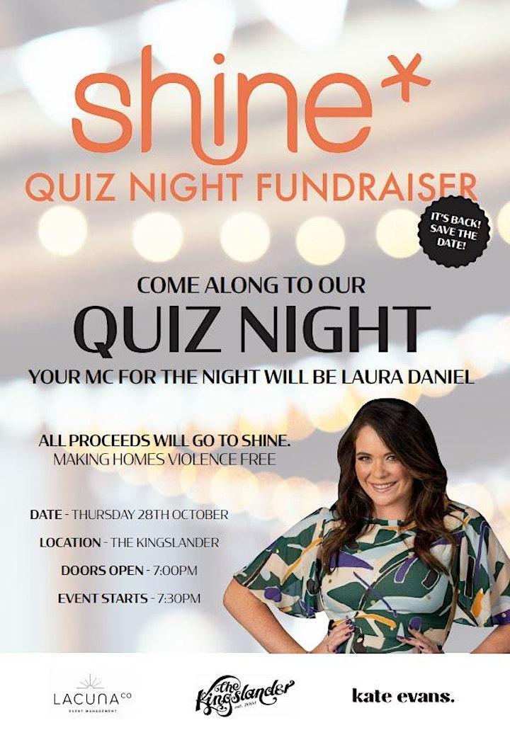 Shine - Quiz Night Fundraiser image