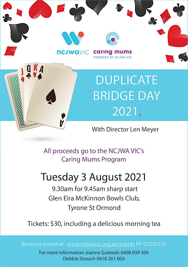 NCJWA Vic Duplicate Bridge Day 2021 image