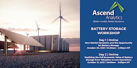 Ascend Analytics Battery Storage Workshop tickets