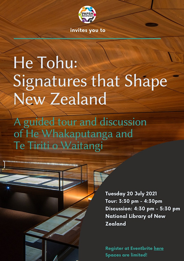 PAPSN invites you to: He Tohu: Signatures that Shape New Zealand image