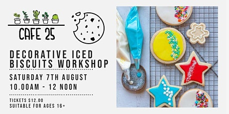 Decorative Iced Biscuits Workshop| Cafe 25 tickets