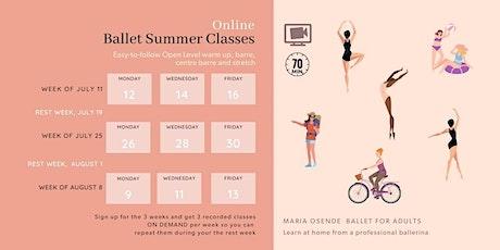 Online Ballet Summer Classes tickets