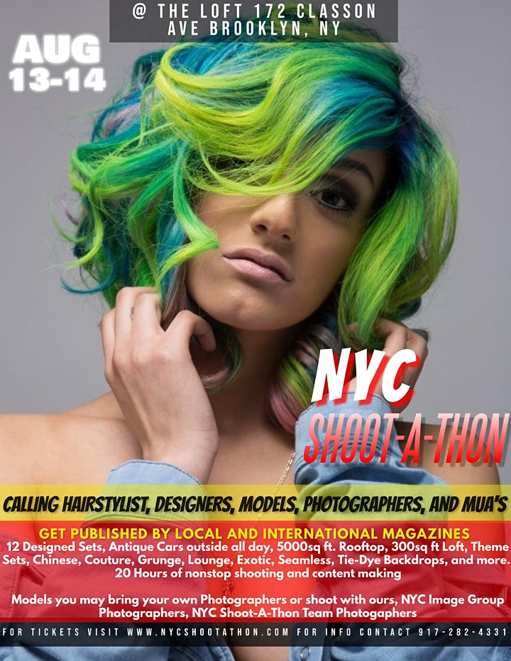NYC Shoot-A-Thon (Power Shoot-Magazine Publication Event) August,13th/14th image