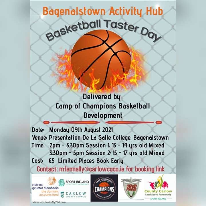 Bagnelstown Activity Hub Basketball Taster Day  Session 2-15 & 17 yrs Mixed image