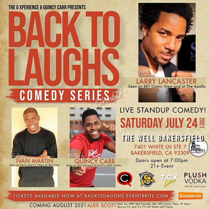 Back To Laughs Comedy Series | Bakersfield Edition image