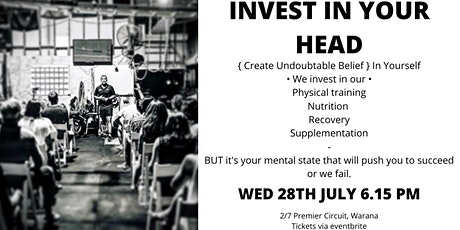Invest in your Head tickets