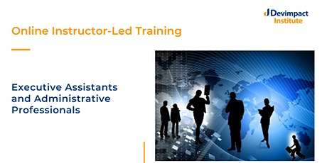 Training for Executive Assistants and Administrative Professionals tickets